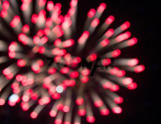 Fireworks multi-colored glare