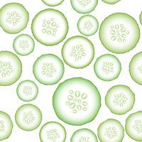 Set of Fresh Green Cucumbers