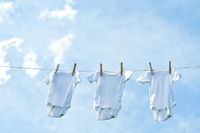 Baby Clothes hanging on line