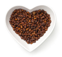 Bee Pollen Propolis In Heart Bowl Isolated