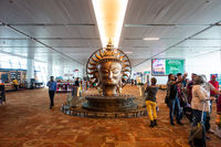 Surya statue at Delhi International airport Terminal 3