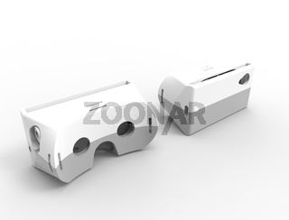 3d rendering of virtual reality glasses isolated in white studio background