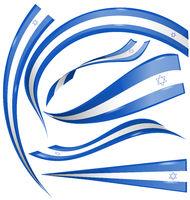 isdrael flag element isolated on white background