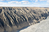 beautiful kuitun grand canyon, xinjiang