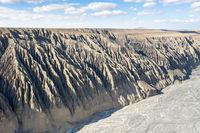 beautiful kuitun grand canyon, xinjiang