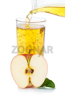 Apple juice pouring pour apples fruit fruits portrait format organic isolated on white