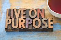 Live on purpose wood type banner