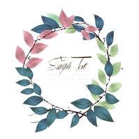 Watercolor round wreath