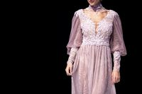 Fashion catwalk runway show single female model