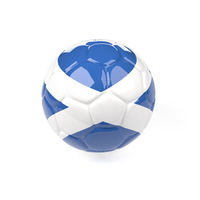 Soccer ball with the flag of Scottland