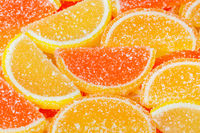 Sweet fruit lemon marmalade background