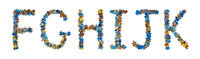 Alphabet made of puzzle pieces - education concept