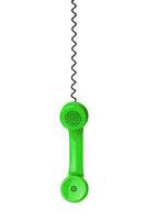 Green phone and cable