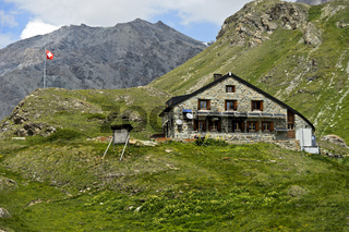 Schutzhütte Cabane de Chanrion des Schweizer Alpen-Clubs,Val de Bagnes, Wallis, Schweiz