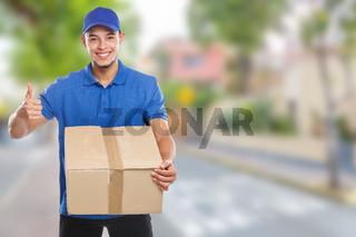 Parcel delivery service box package order delivering job success town copyspace copy space