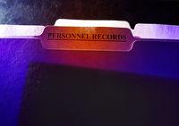 Personnel Records folder