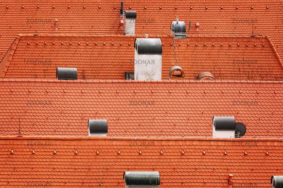 Tiled roofs of Bardejov