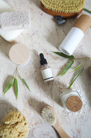 Face cream, serum, lotion, moisturizer and sea salt