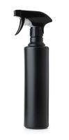 Black plastic spray bottle