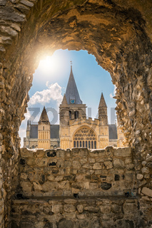 View of the magnificent Rochester Cathedral