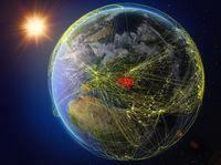 Ukraine on Earth with network