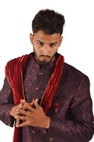 Handsome boy in Indian traditional attire posing for camera, Pune, Maharashtra.
