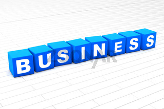 3D illustration of the word Business