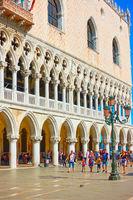Walking people near Palazzo Ducale