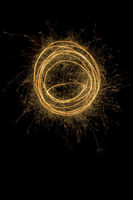 Light Painting Round Sparks