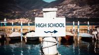 Street Sign to High School