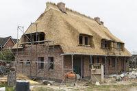 Reetdach Haus im Rohbau