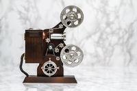 Decorative Movie Camera Music Box on White
