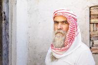 traditional arab man portrait