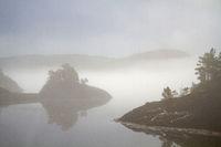 Nebelstimmung Fjord Fjaerangen