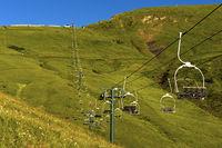 Sessellift am Mont Joly im Sommer, Megeve, Hochsavoyen, Frankreich