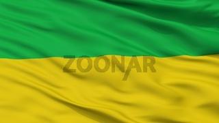Fosca City Flag, Colombia, Cundinamarca Department, Closeup View