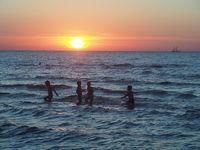 Sonnenuntergang an der Ostsee (Lettland)