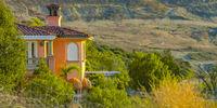 Lavish house on a mountain in California