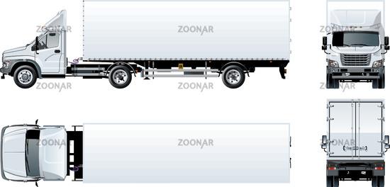 Truck Template | Foto Vector Semi Truck Template Isolated On White Bild 12209613