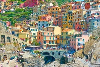 Colorful houses in Manarola