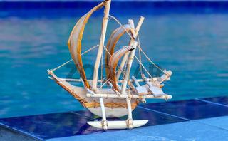 Bluewater pool beach sail fishing boat