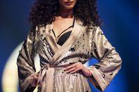 Fashion week model runway swimwear