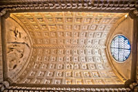Trogir cathedral historic portal ceiling view