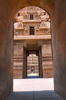 Rajarajan Tiruvasal seen through Keralantakan Tiruvasal, Brihadisvara Temple, Tanjore, Tamil Nadu