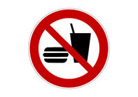 x no eating sign.eps