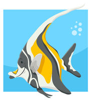 funny cartoon fish animal character