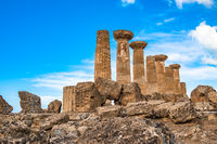 Temple of Heracles in the Valley of the Temples, Agrigento, Sicily, Italy