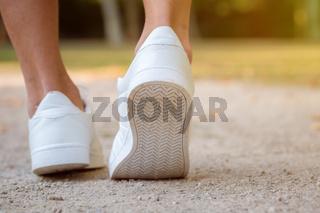 Shoes runner young man ready start starting preparing running jogging sports training fitness