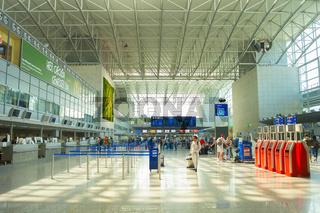People departure Frankfurt Airport Germany