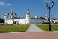 The Seating courtyard of Tobolsk Kremlin. Tobolsk. Russia